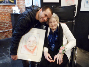 Christian Artist Paints Portraits in Nursing Homes