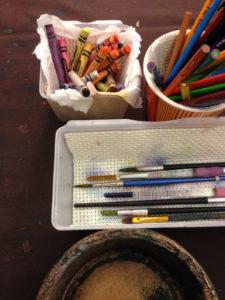 Art Table supplies.